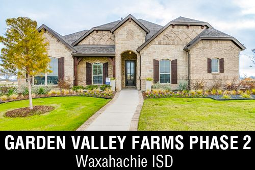Garden Valley Farms Phase 2 In Waxahachie Tx By J Houston Homes
