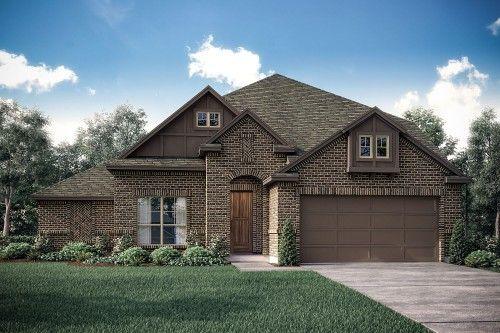 Tudor Home Exterior Design Available in Dallas Ft. Worth Waco Area