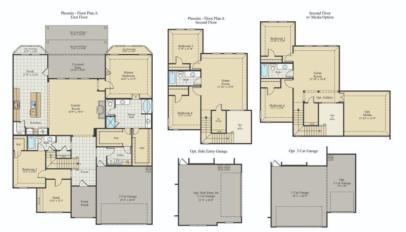 New Home Floor Plan (Phoenix) Available at John Houston Custom Homes