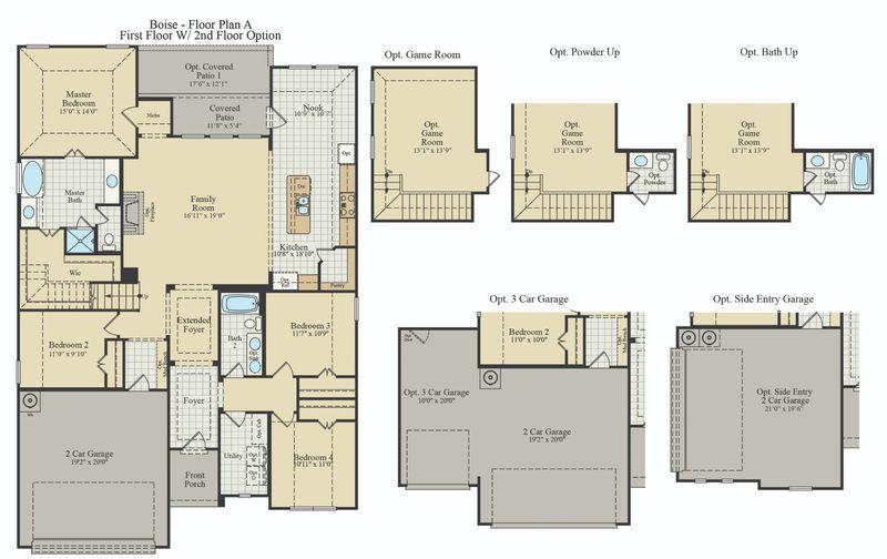 New Home Floor Plan (Boise) Available at John Houston Custom Homes