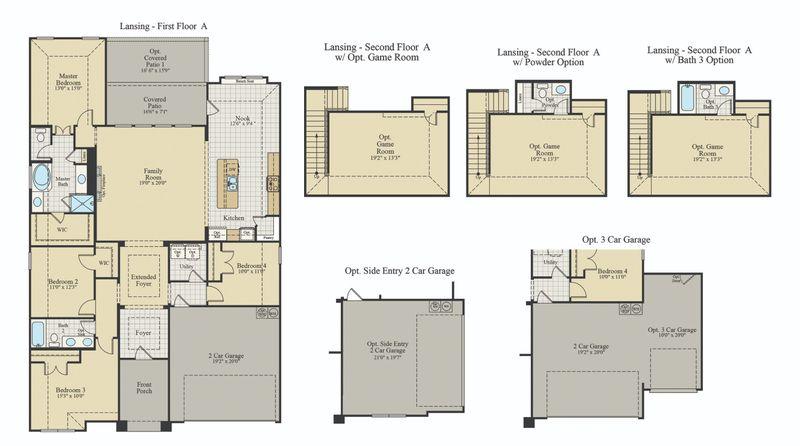 New Home Floor Plan (Lansing) Available at John Houston Custom Homes