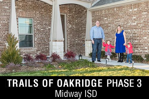 New Homes for Sale at Trails of Oakridge I Community in Waco, TX