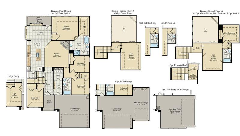 New Home Floor Plan (Boston) Available at John Houston Custom Homes