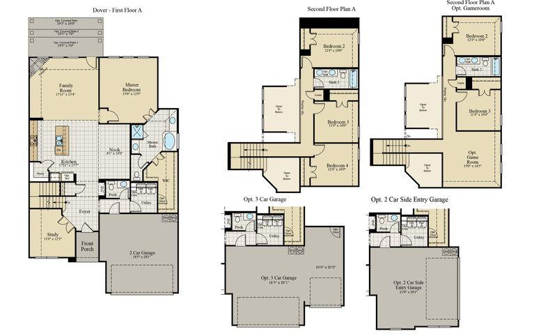 New Home Floor Plan (Dover) Available at John Houston Custom Homes