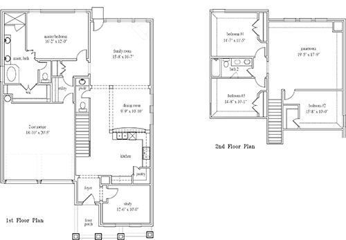 New Home Floor Plan (Petunia) Available at John Houston Custom Homes