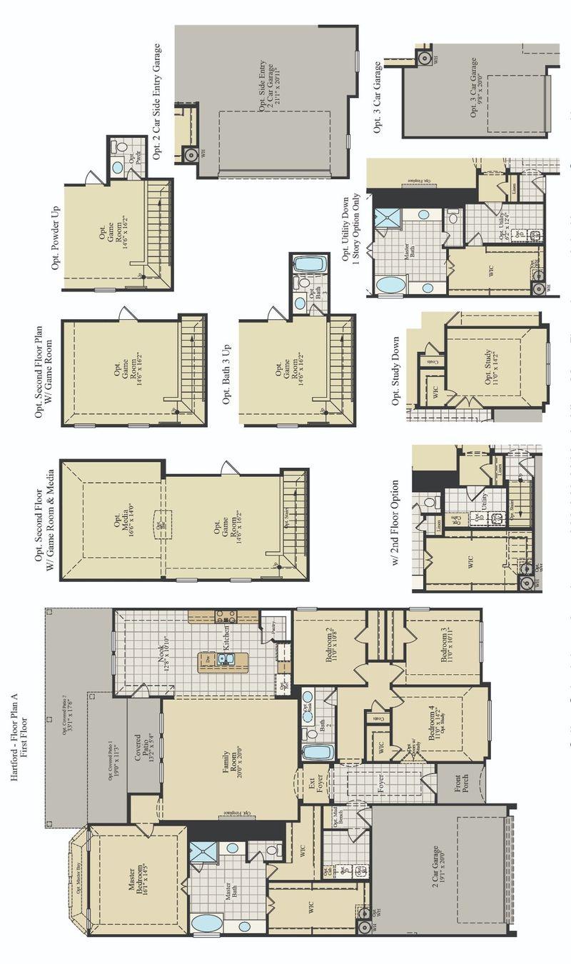 New Home Floor Plan (Hartford) Available at John Houston Custom Homes