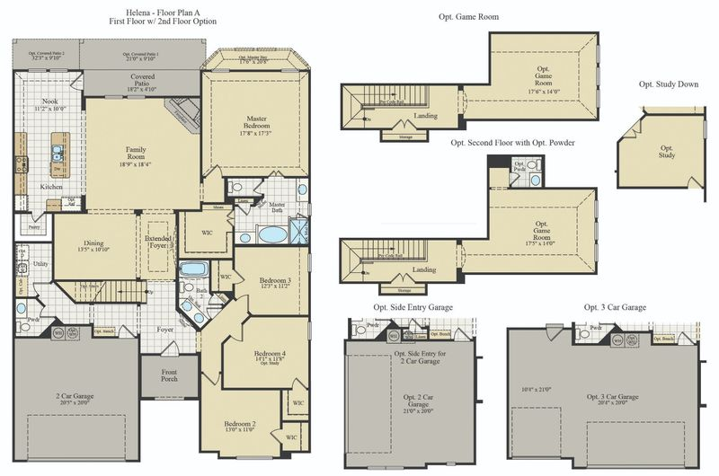 New Home Floor Plan (Helena) Available at John Houston Custom Homes