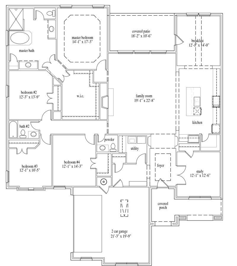 New Home Floor Plan (custom1) Available at John Houston Custom Homes