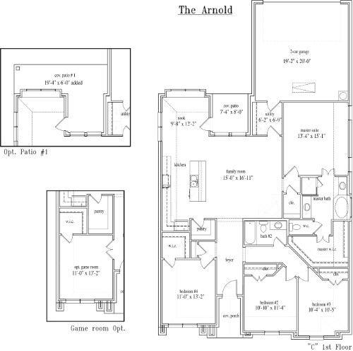 New Home Floor Plan (Arnold) Available at John Houston Custom Homes