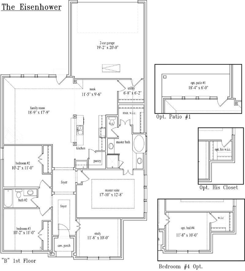 New Home Floor Plan (Eisenhower) Available at John Houston Custom Homes
