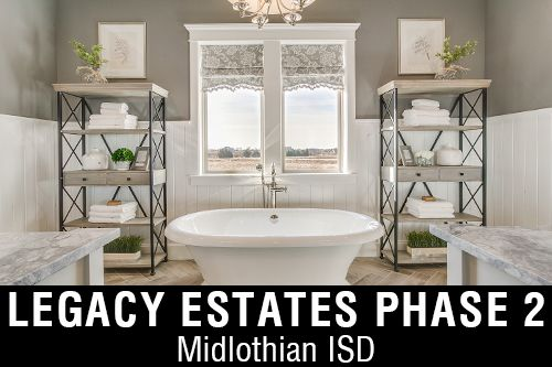 New Homes for Sale in Legacy Estates I Midlothian, TX Home Builder