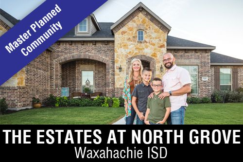 New Homes for Sale in The Estates at North Grove I Waxahachie, TX Home Builder