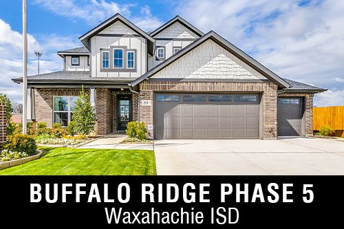 New Homes for Sale in Buffalo Ridge Phase 5 I Waxahachie,TX Home Builder