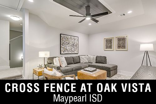 New Homes for Sale in Cross Fence at Oak Vista I Waxahachie,TX Home Builder