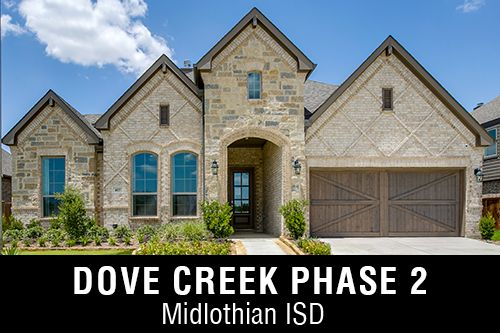 New Homes for Sale in Dove Creek Phase 2 I Midlothian,TX Home Builder