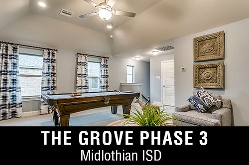 New Homes for Sale in The Grove Phase 3 I Midlothian,TX Home Builder