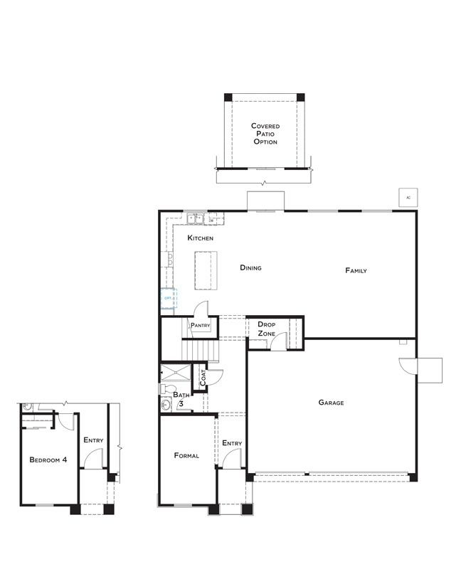 Residence 5 Home Plan by JMC Homes in Westview at Whitney