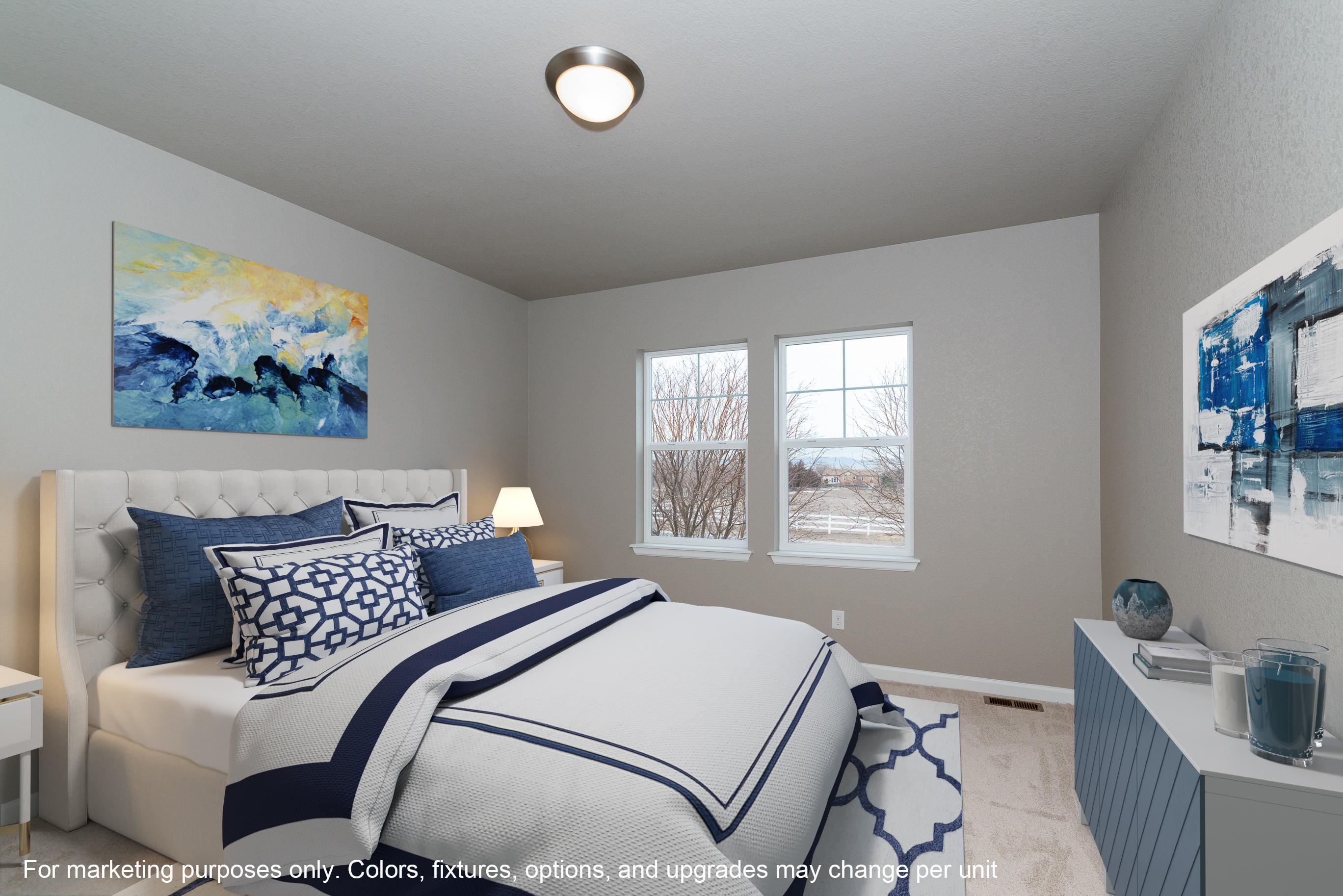 Bedroom featured in The Dupont By JM Weston Homes in Denver, CO