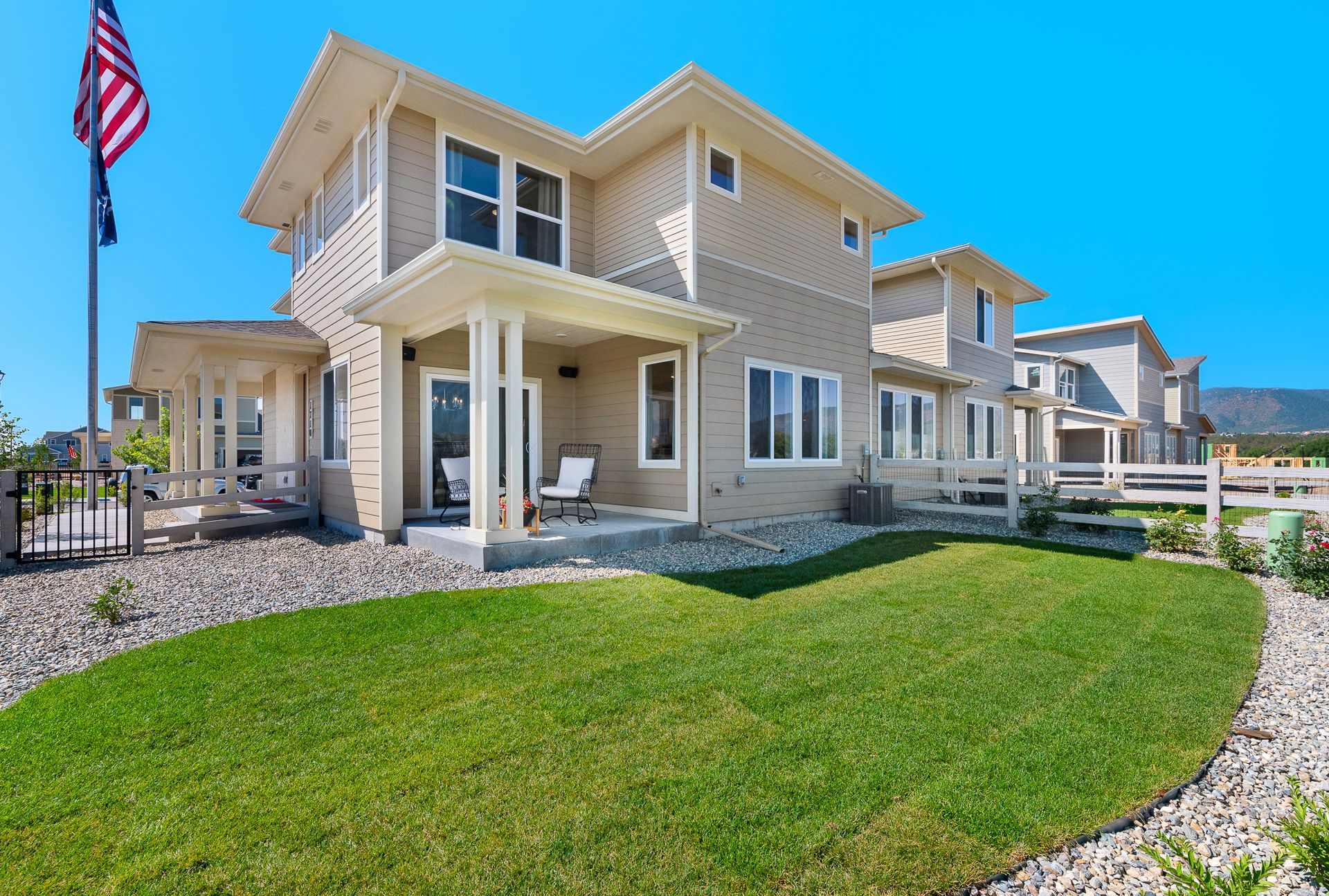Exterior featured in The Alpine By JM Weston Homes in Colorado Springs, CO