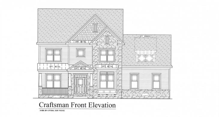 Cantwell at Walden:Craftsman Elevation