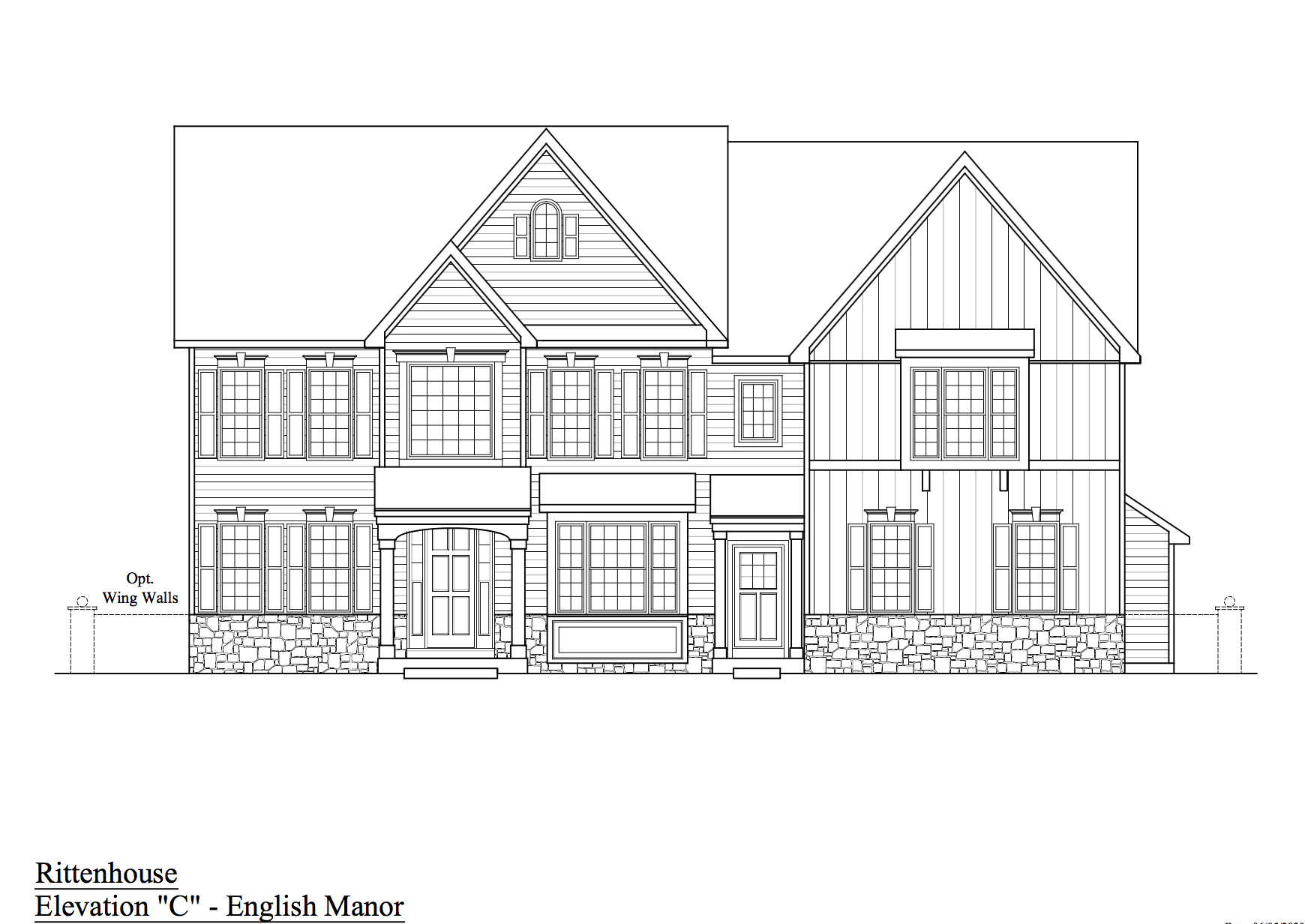 Exterior featured in The Rittenhouse By JS Homes in Wilmington-Newark, DE