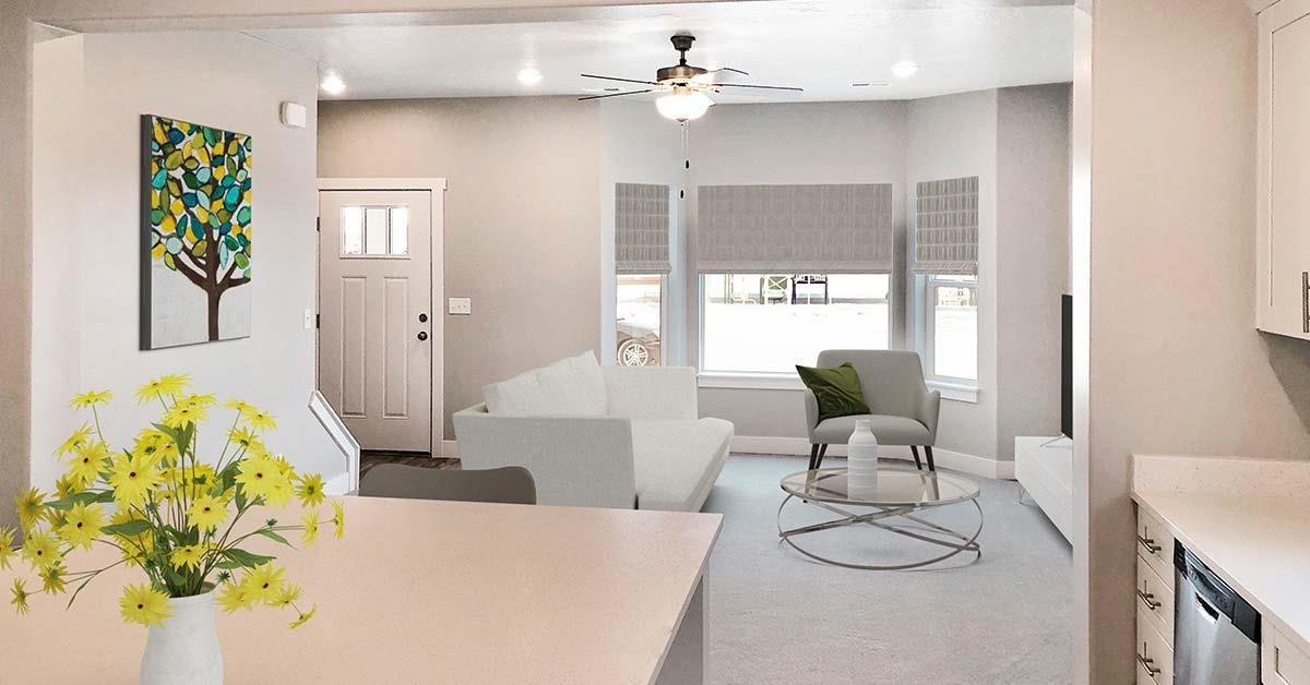Living Area featured in the Juniper Springs Unit C By J. Thomas Homes in Provo-Orem, UT