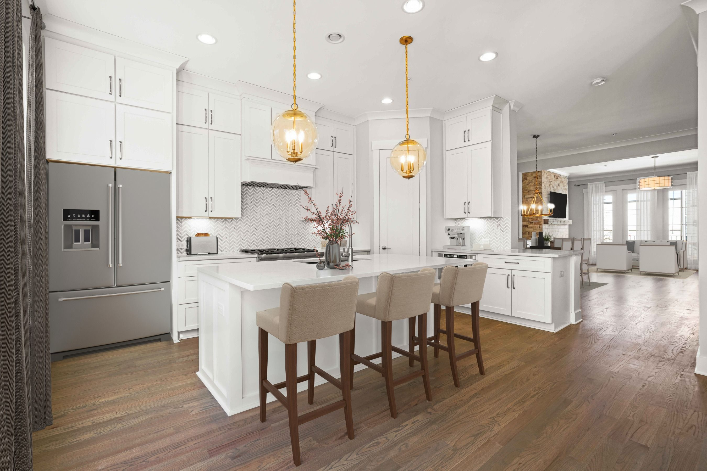 Kitchen featured in The Barrett By JW Collection in Atlanta, GA