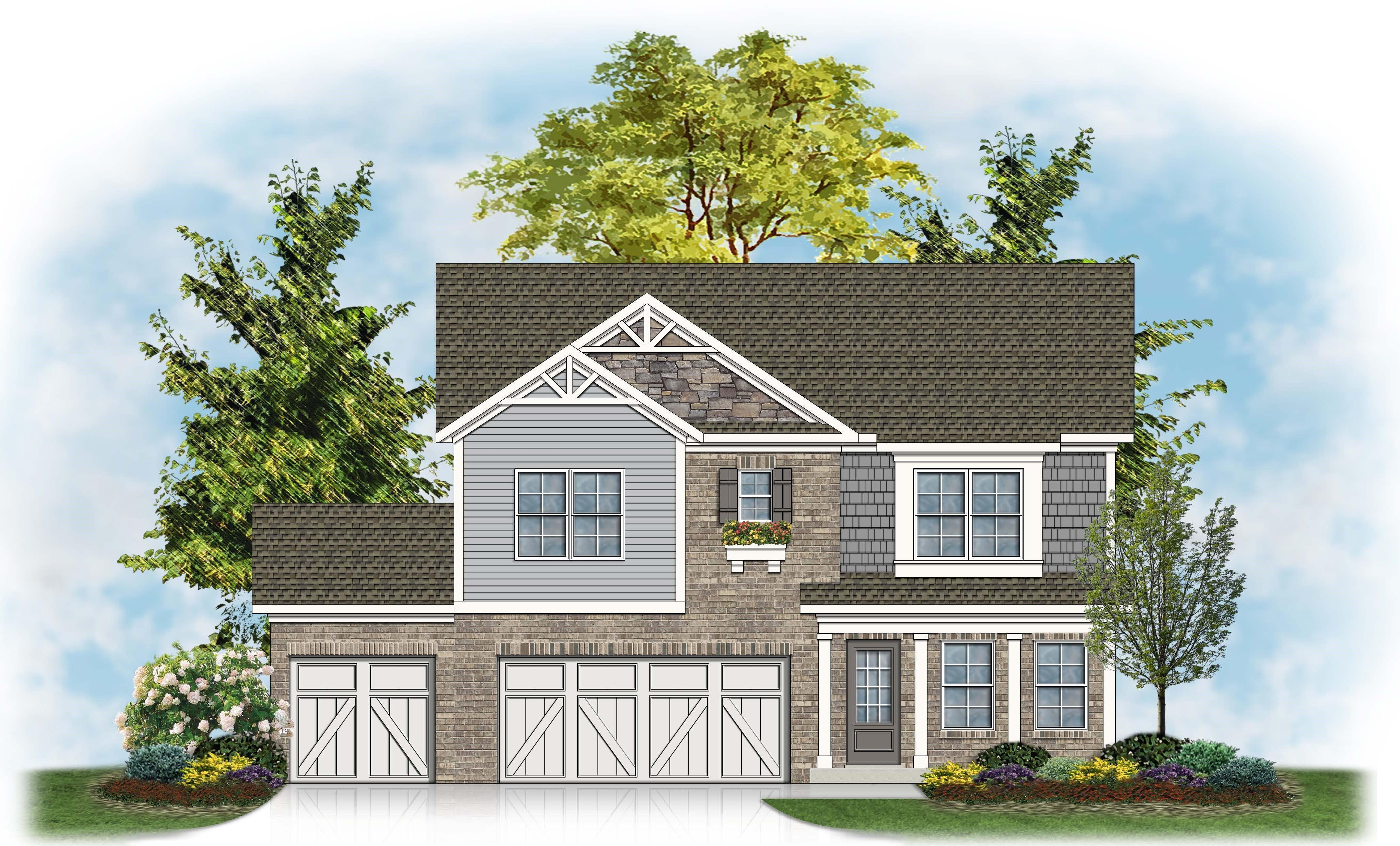 Exterior featured in The Nancy - 3rd Car By James Monroe Homes in Lexington, KY