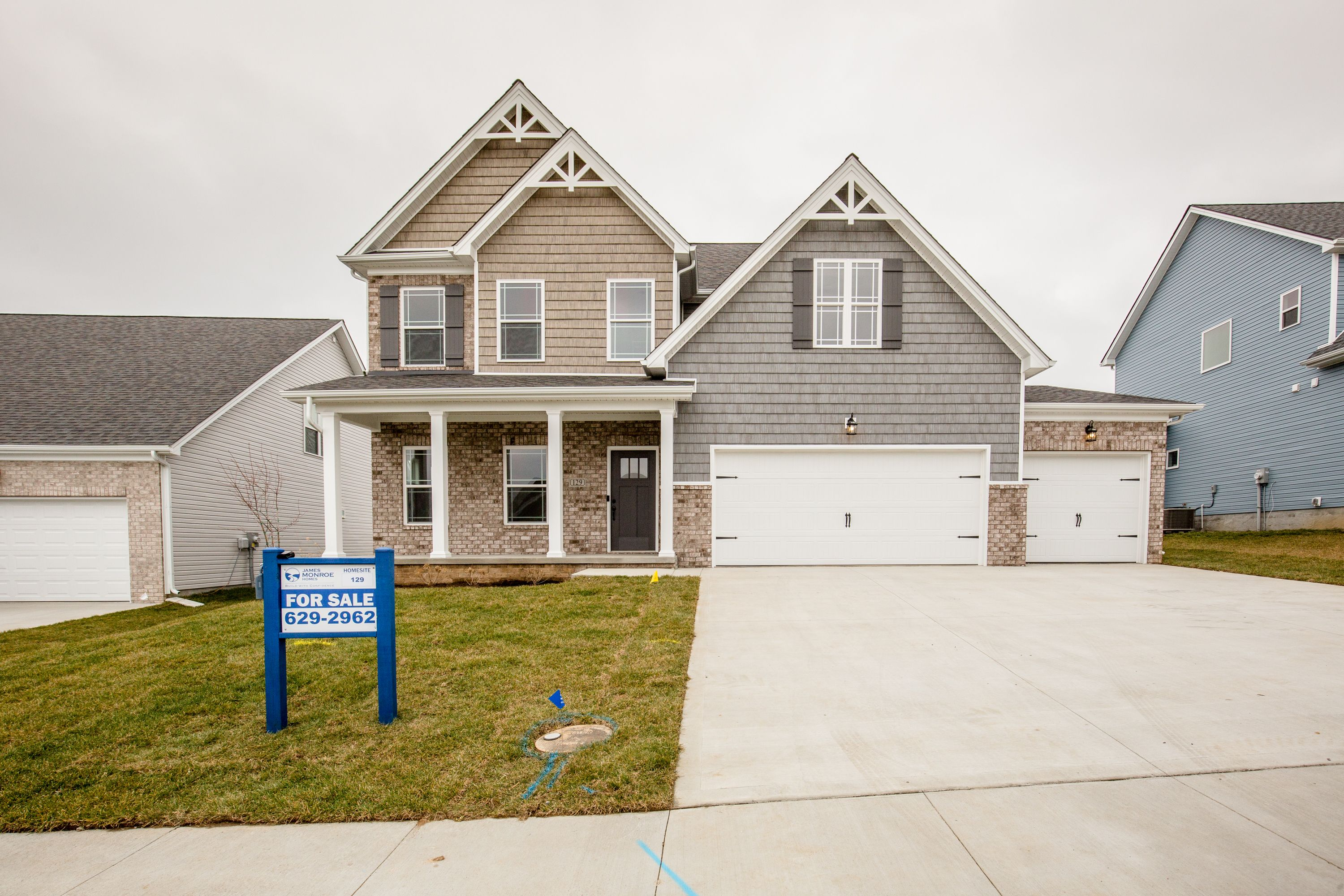 Exterior featured in The Abigail - 3rd Car By James Monroe Homes in Lexington, KY