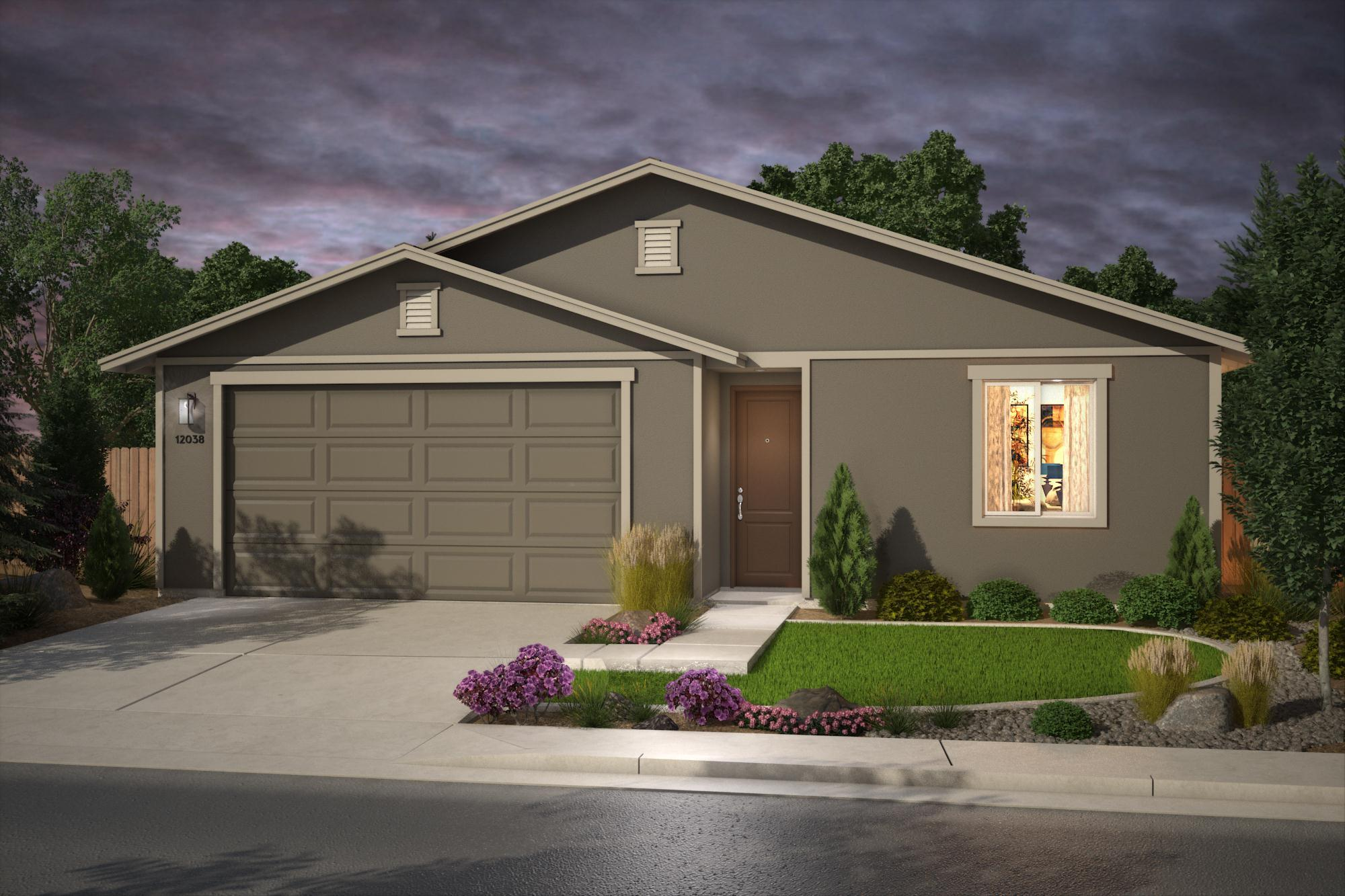 Exterior featured in the Plan 3- 1717 By Jenuane Communities in Reno, NV