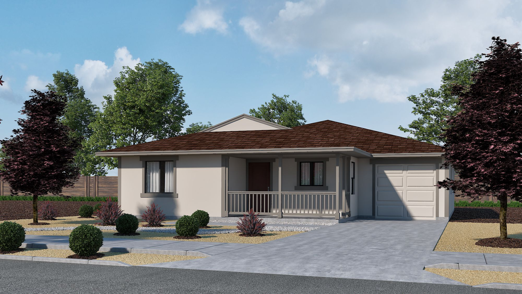 Exterior featured in the Plan 1- Flats at Ponderosa By Jenuane Communities in Reno, NV