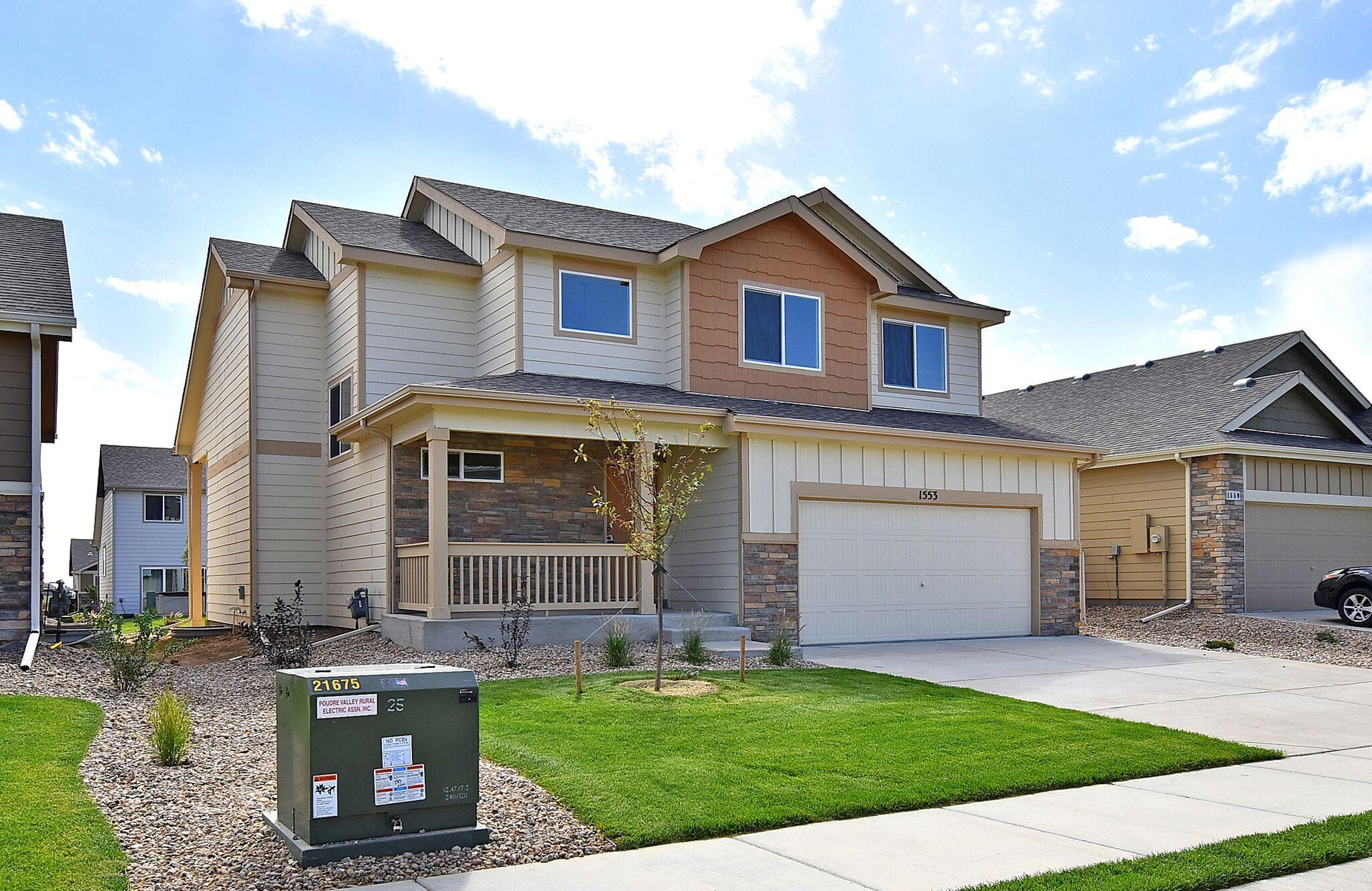 Exterior featured in the New Jersey By Journey Homes in Greeley, CO