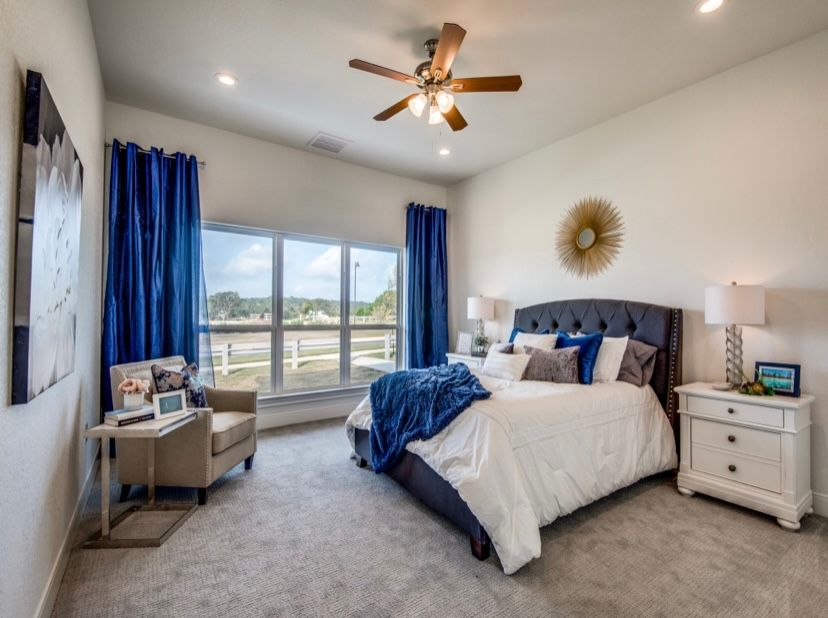Bedroom featured in The Clifton By JuEll Homes in San Antonio, TX