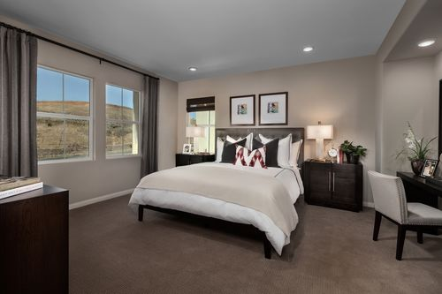 Bedroom-in-Residence Two Modeled-at-Caraway at Terramor-in-Corona