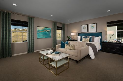Bedroom-in-Residence Four Modeled-at-Caraway at Terramor-in-Corona