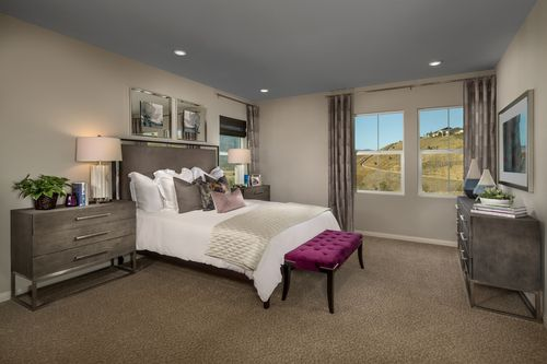 Bedroom-in-Residence Six Modeled-at-Caraway at Terramor-in-Corona