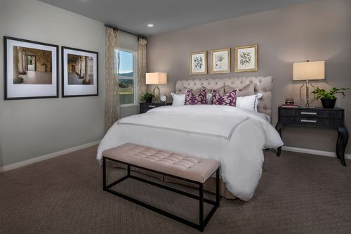 Bedroom-in-Residence Three Modeled-at-Caraway at Terramor-in-Corona