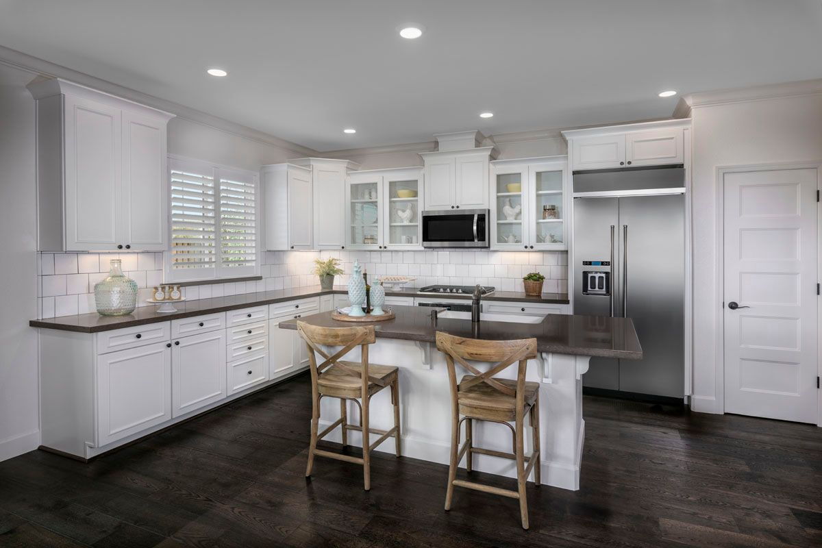 Kitchen-in-Plan 1 Modeled-at-Cypress at University District-in-Rohnert Park