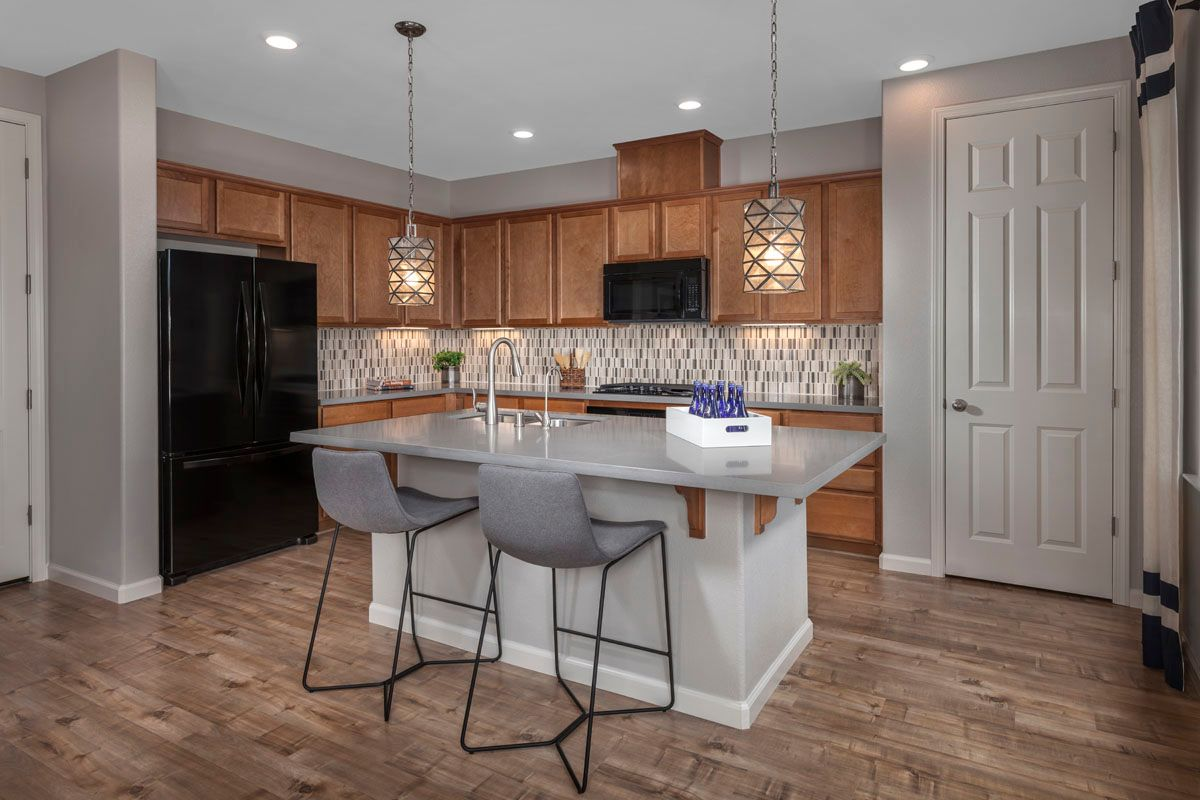 Kitchen-in-Plan 2 Modeled-at-Cypress at University District-in-Rohnert Park
