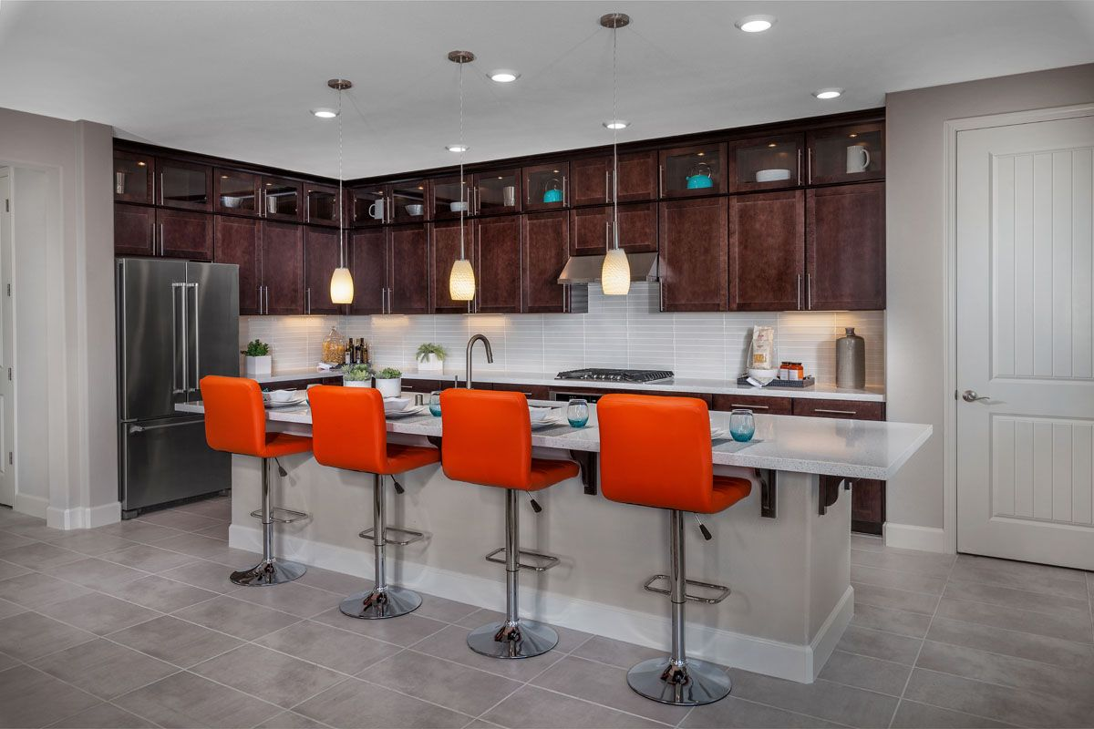 Kitchen-in-Plan 3 Modeled-at-Cypress at University District-in-Rohnert Park