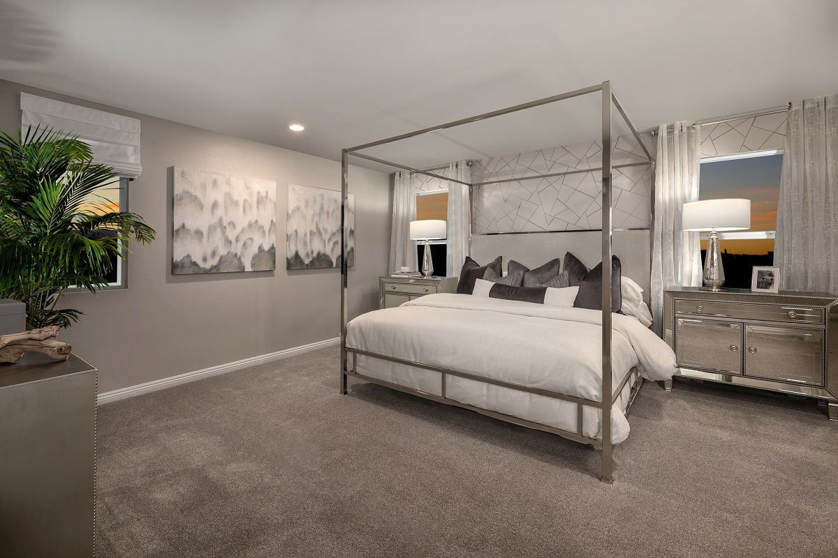 Bedroom-in-Plan 1673 End Unit Modeled-at-Autumn Winds-in-Las Vegas