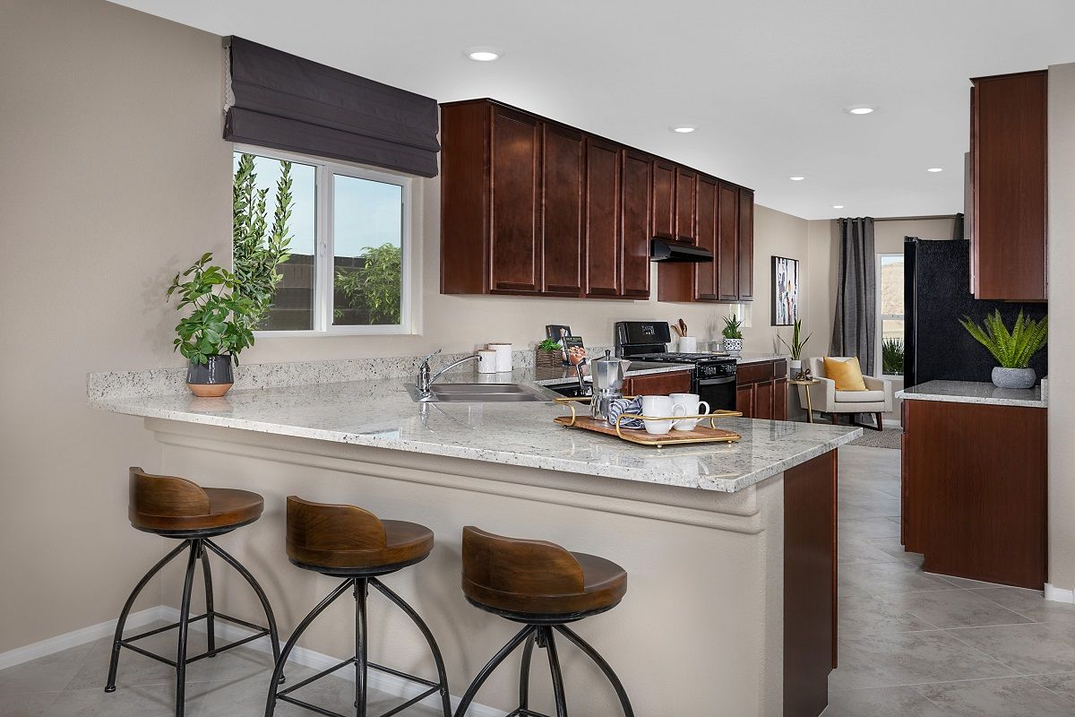 Kitchen-in-Plan 1589 Modeled-at-Reserves at Serene Canyon-in-Las Vegas