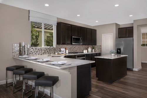 Kitchen-in-Plan 2993 Modeled-at-Reserves at Serene Canyon-in-Las Vegas