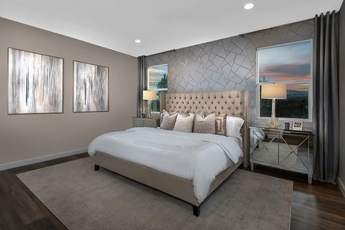 Bedroom-in-Plan 2993 Modeled-at-Reserves at Serene Canyon-in-Las Vegas