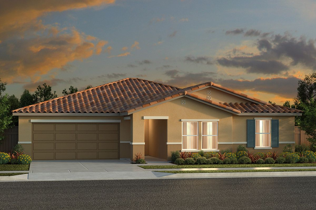Exterior featured in the Plan 2050 By KB Home in Fresno, CA