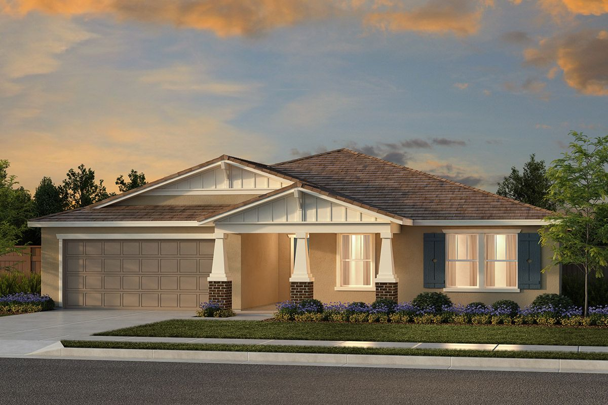 Exterior featured in the Plan 2321 Modeled By KB Home in Fresno, CA