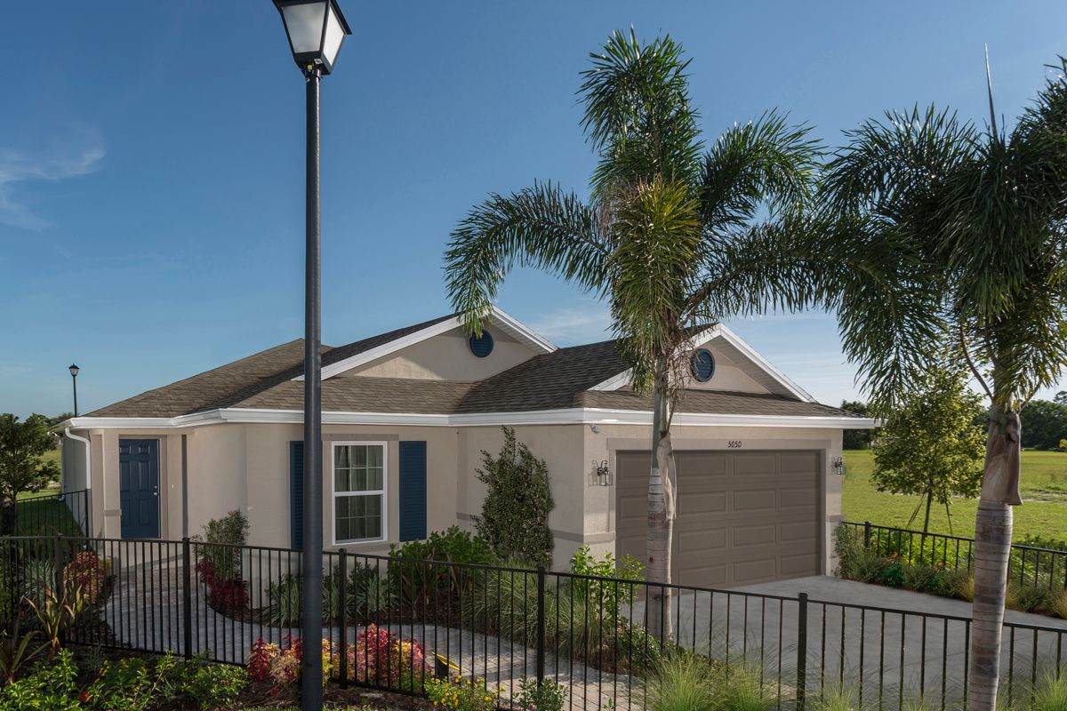 Exterior featured in the Plan 1717 Modeled By KB Home in Martin-St. Lucie-Okeechobee Counties, FL