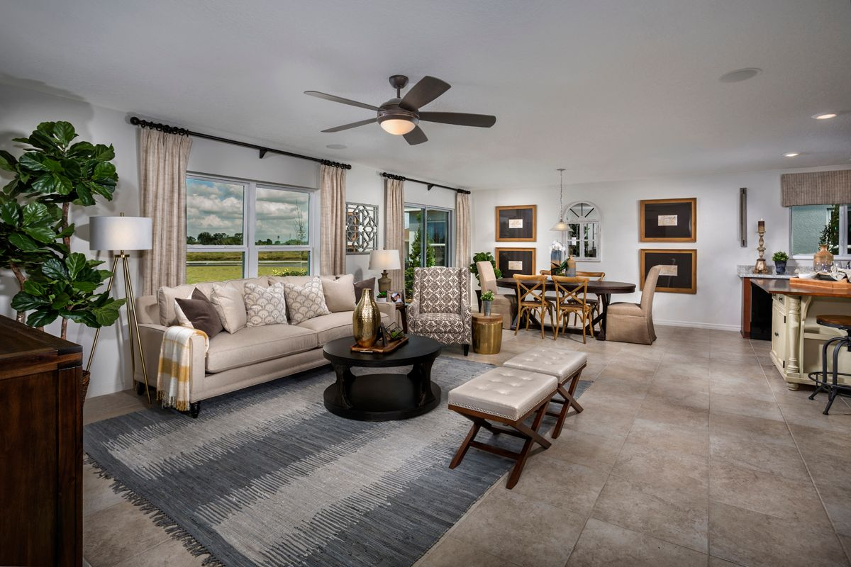 Living Area featured in the Plan 1707 By KB Home in Lakeland-Winter Haven, FL