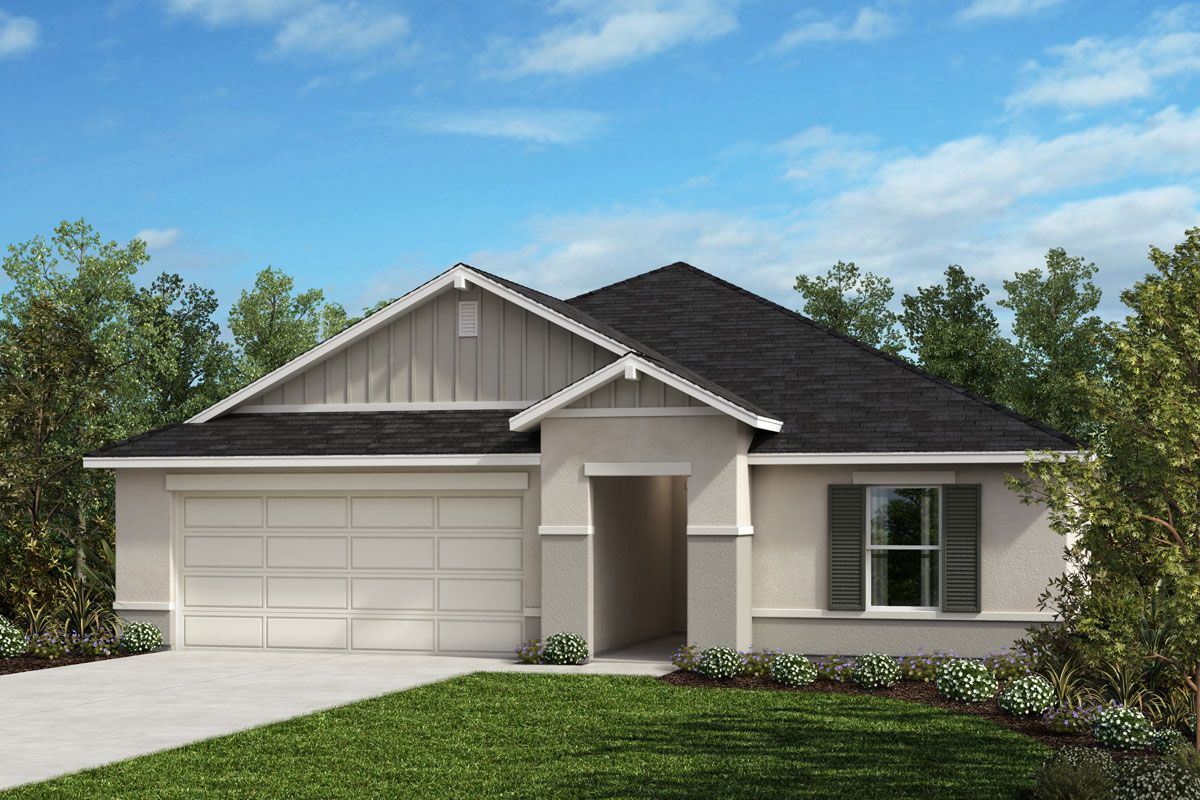 Exterior featured in the Plan 1707 Modeled By KB Home in Lakeland-Winter Haven, FL
