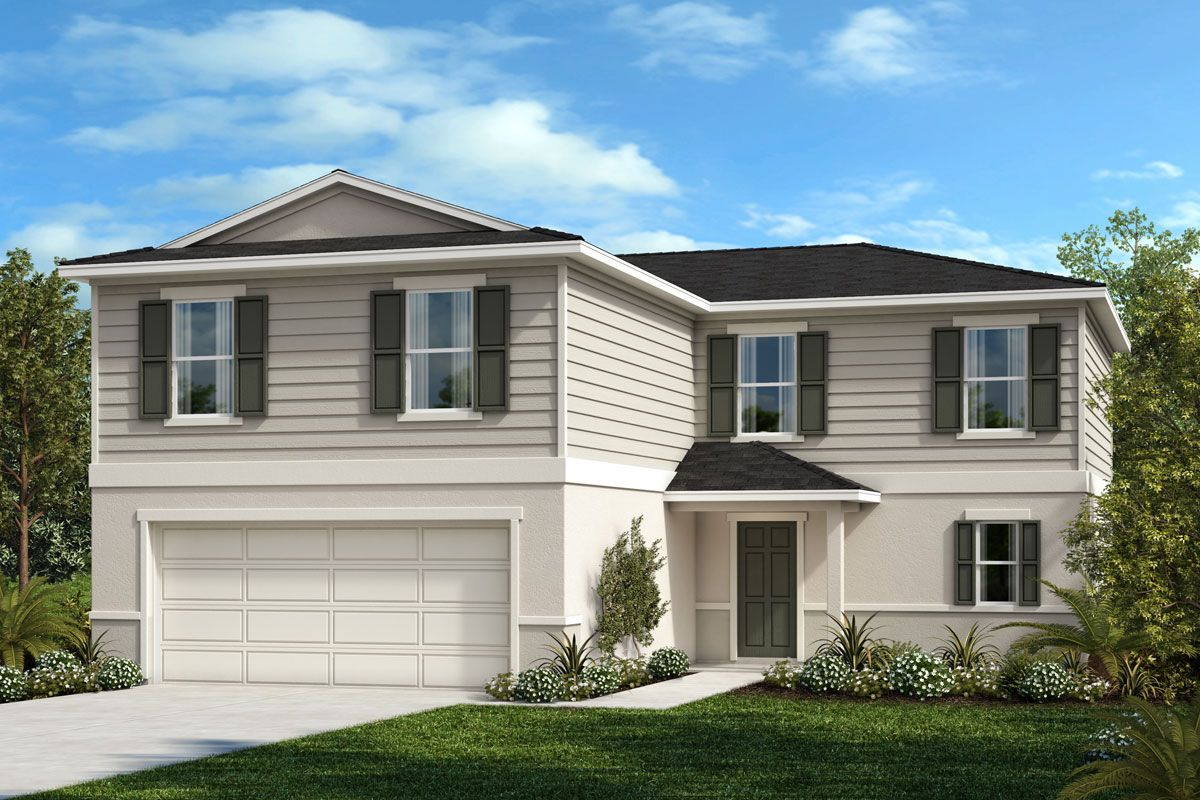 Exterior featured in the Plan 2384 By KB Home in Lakeland-Winter Haven, FL
